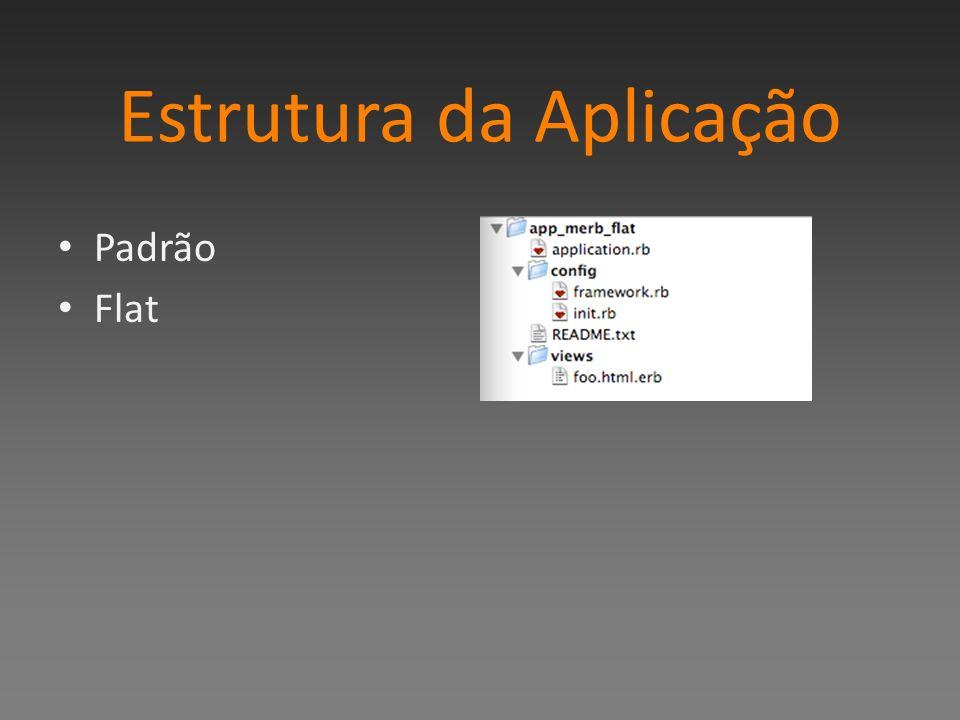 Estrutura da Aplicação Padrão Flat