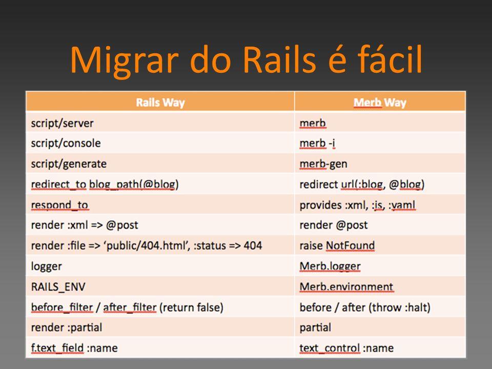 Migrar do Rails é fácil