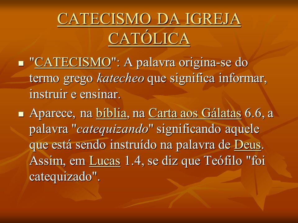 Por isso, exorto-vos: estudai o catecismo.Estes são os meus votos de coração.