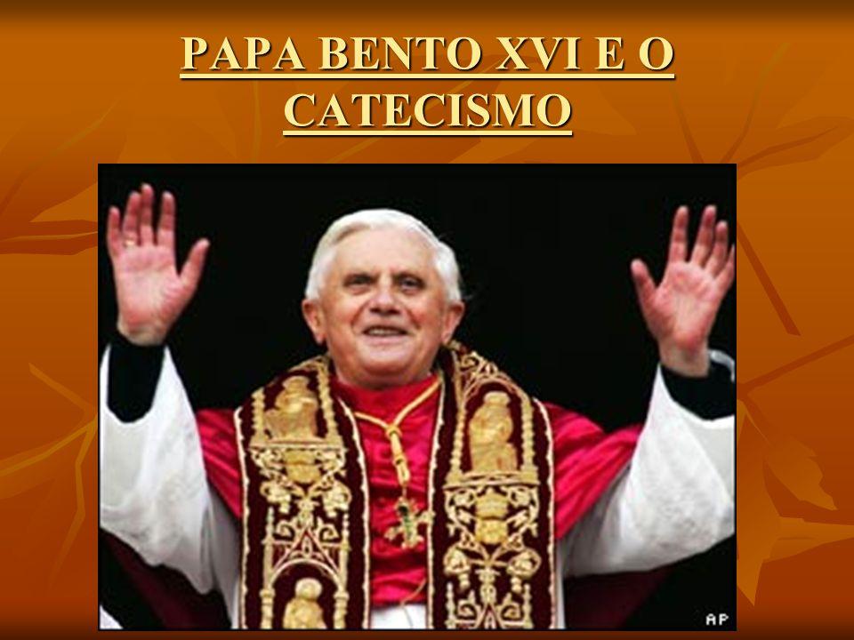 PALAVRA DO PAPA O Catecismo teve origem nos anos 80.
