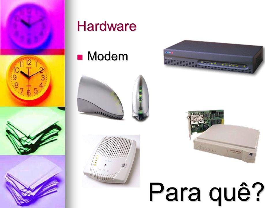 Hardware Modem Modem Para quê?