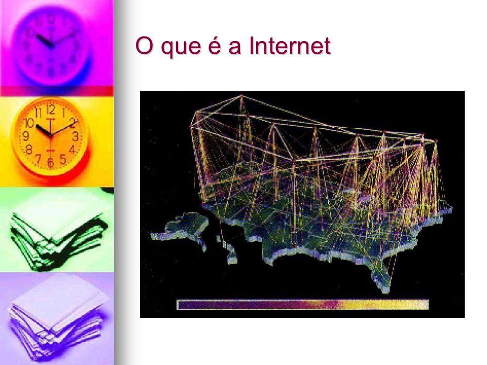 A Internet é uma rede de computadores à escala mundial, destinada à troca de informações