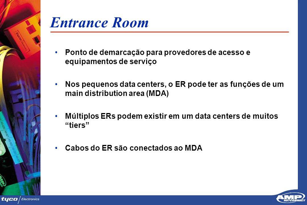 1212 Entrance Room Ponto de demarcação para provedores de acesso e equipamentos de serviço Nos pequenos data centers, o ER pode ter as funções de um m