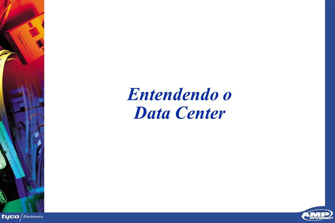 1313 Main Distribution Area (MDA) Ponto de conexão central para todo o data center TIA-942 requer ao menos um MDA no data center Pode servir múltiplos HDAs ou EDAs Usualmente abriga os switches de core e/ou routers Localizado no data center devido a limitações de distância Possibilidade de MDAs redundantes nos data centers de alto tier