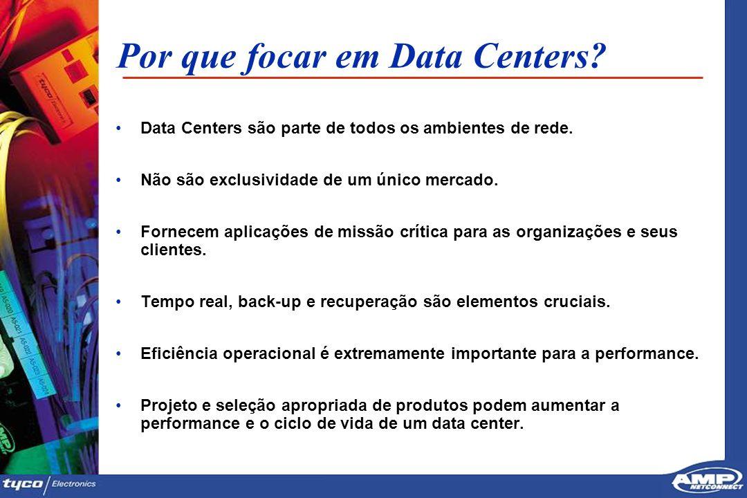 4 Por que focar em Data Centers? Data Centers são parte de todos os ambientes de rede. Não são exclusividade de um único mercado. Fornecem aplicações