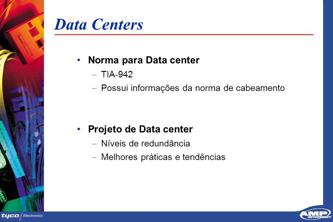 5 Data Centers Norma para Data center TIA-942 Possui informações da norma de cabeamento Projeto de Data center Níveis de redundância Melhores práticas