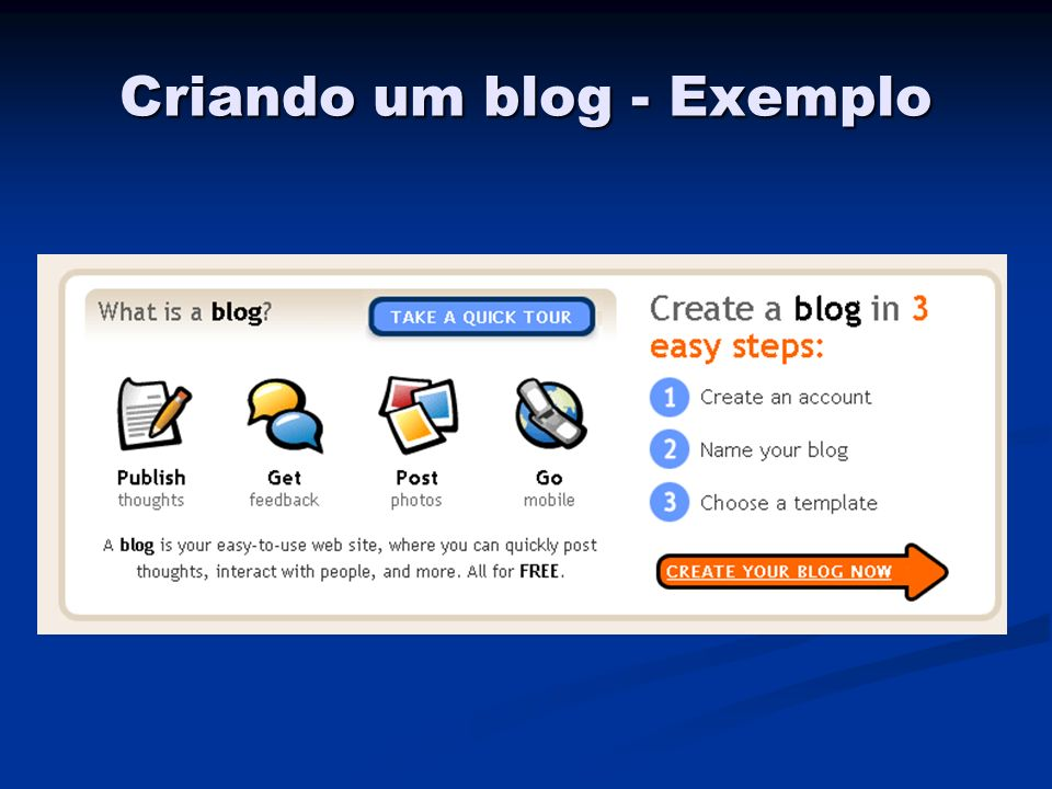 Criando um blog - Exemplo