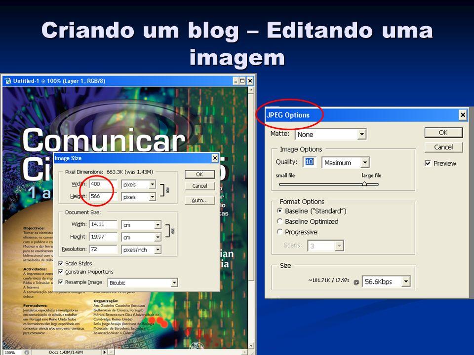 Criando um blog – Editando uma imagem