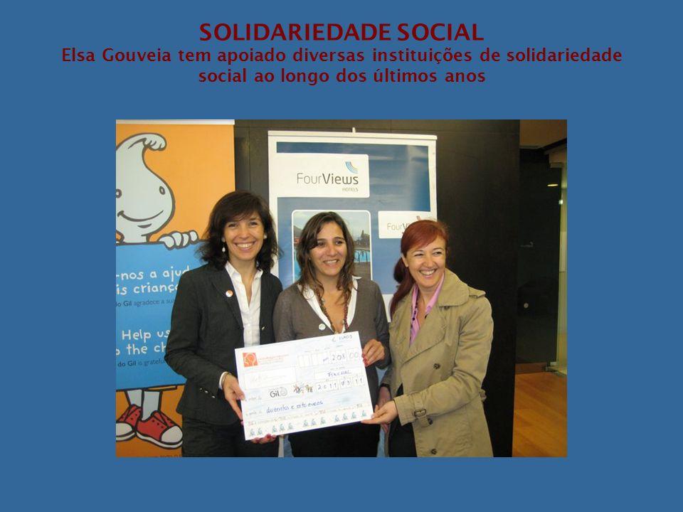 SOLIDARIEDADE SOCIAL Elsa Gouveia tem apoiado diversas instituições de solidariedade social ao longo dos últimos anos