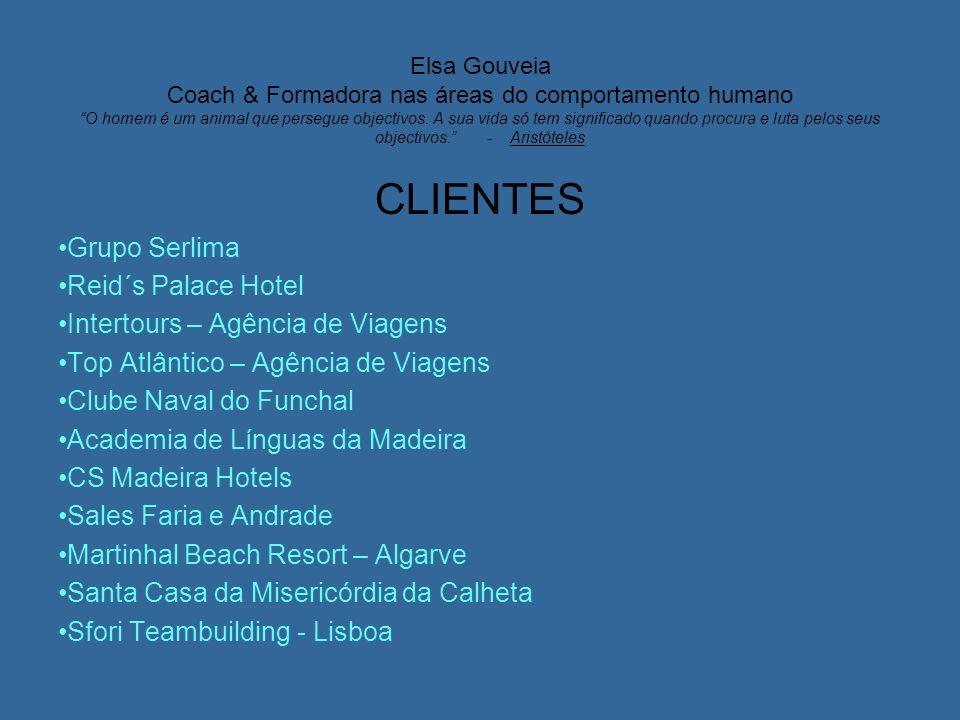 Elsa Gouveia Coach & Formadora nas áreas do comportamento humano O homem é um animal que persegue objectivos. A sua vida só tem significado quando pro