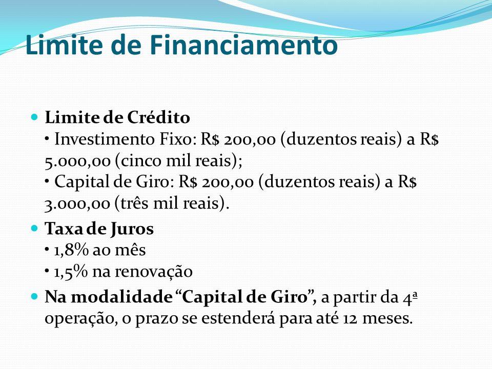 Credifácil Cultura Fixo Objetivos Financiamento de investimento para implantação, ampliação, reforma ou modernização de empreendimentos.