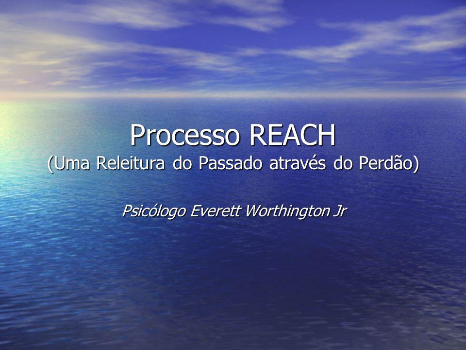 Processo REACH (Uma Releitura do Passado através do Perdão) Psicólogo Everett Worthington Jr