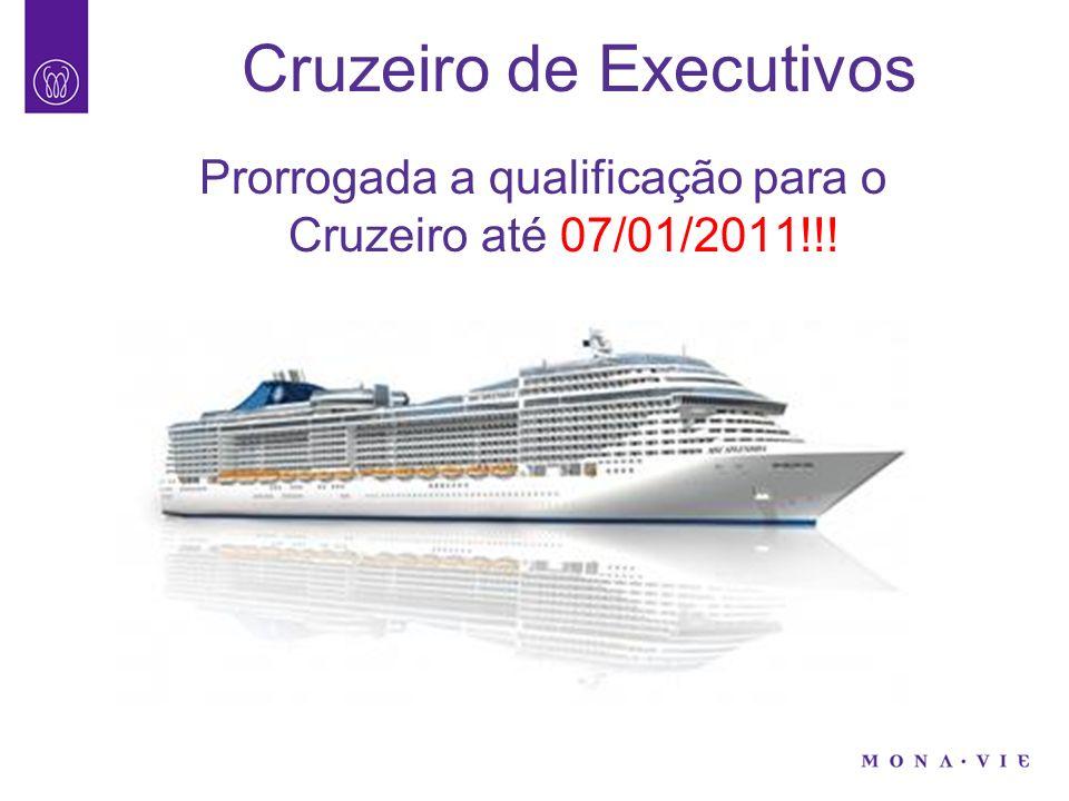Cruzeiro de Executivos Prorrogada a qualificação para o Cruzeiro até 07/01/2011!!!
