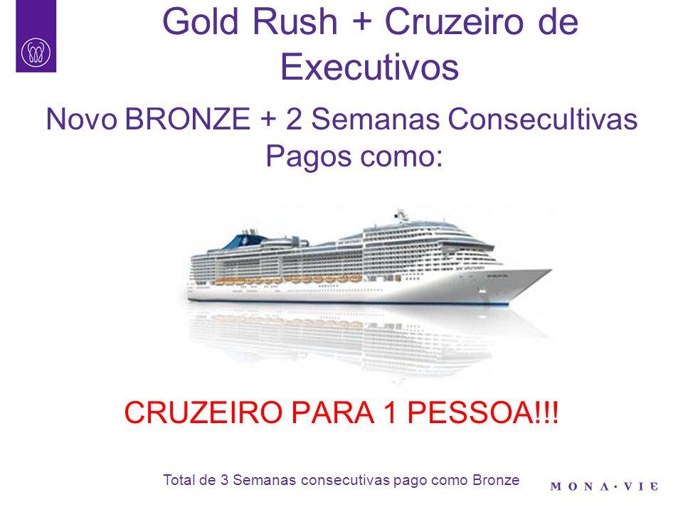 Gold Rush + Cruzeiro de Executivos Novo BRONZE + 2 Semanas Consecultivas Pagos como: CRUZEIRO PARA 1 PESSOA!!! Total de 3 Semanas consecutivas pago co