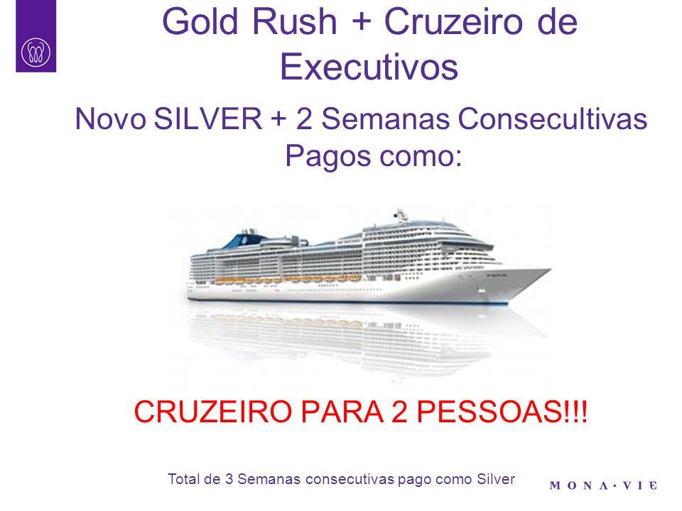 Gold Rush + Cruzeiro de Executivos Novo GOLD+ 3 Semanas Consecultivas Pagos como: CRUZEIRO PARA 2 PESSOAS + R$1.800,00!!.