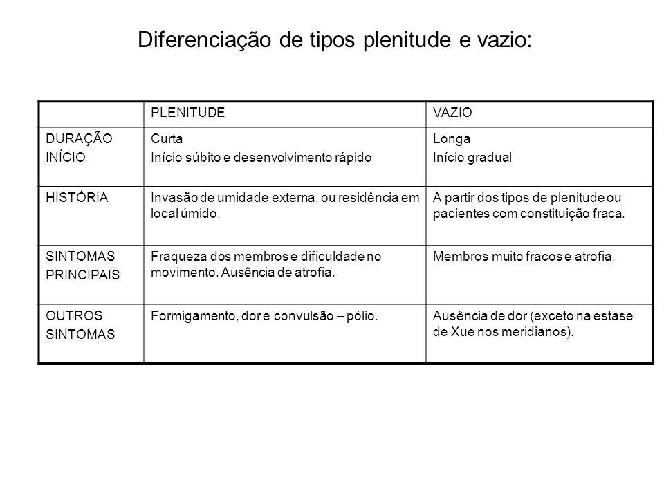 Diferenciação de tipos plenitude e vazio: PLENITUDEVAZIO DURAÇÃO INÍCIO Curta Início súbito e desenvolvimento rápido Longa Início gradual HISTÓRIAInva
