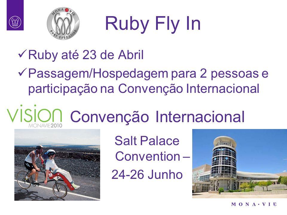 Ruby Fly In Ruby até 23 de Abril Passagem/Hospedagem para 2 pessoas e participação na Convenção Internacional Convenção Internacional Salt Palace Conv