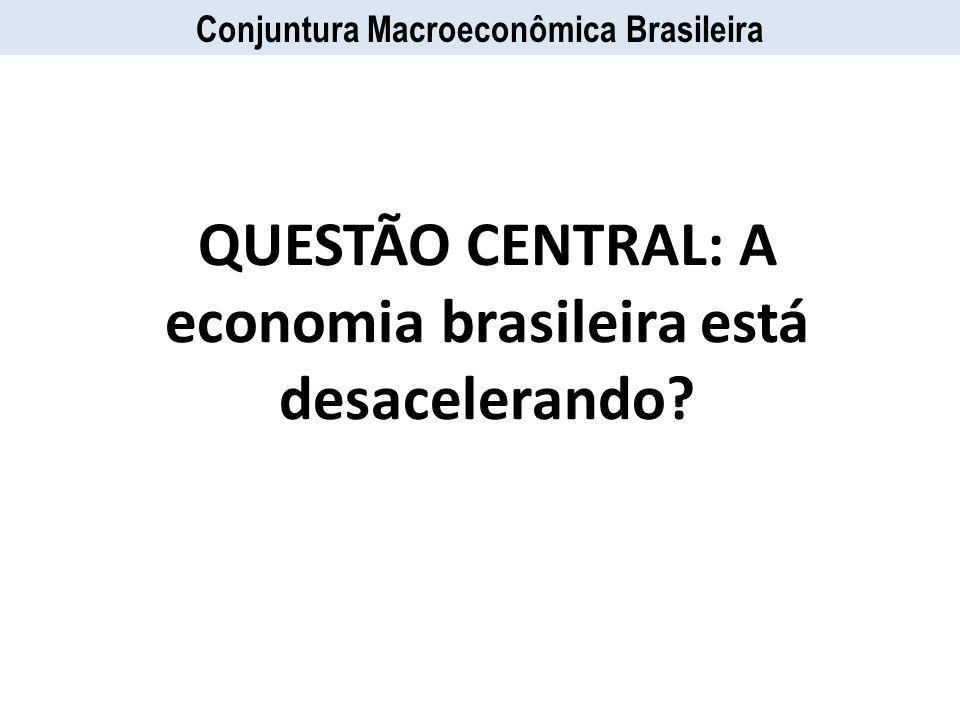 Conjuntura Macroeconômica Brasileira QUESTÃO CENTRAL: A economia brasileira está desacelerando?