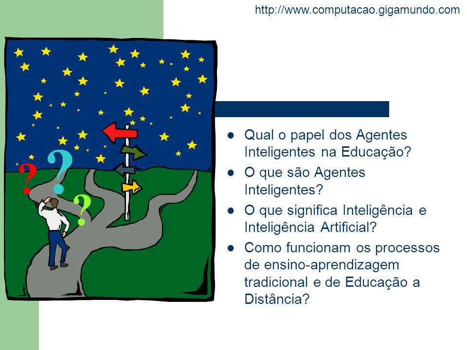 http://www.computacao.gigamundo.com Qual o papel dos Agentes Inteligentes na Educação? O que são Agentes Inteligentes? O que significa Inteligência e
