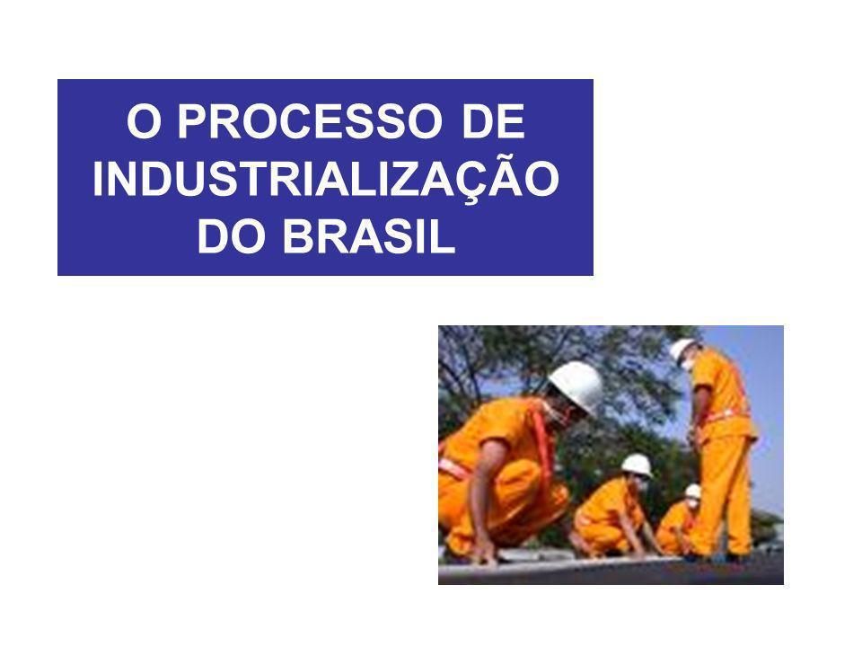 O PROCESSO DE INDUSTRIALIZAÇÃO DO BRASIL