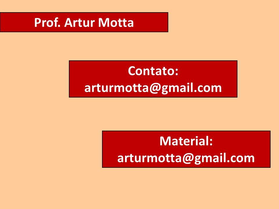 Prof. Artur Motta Contato: arturmotta@gmail.com Material: arturmotta@gmail.com