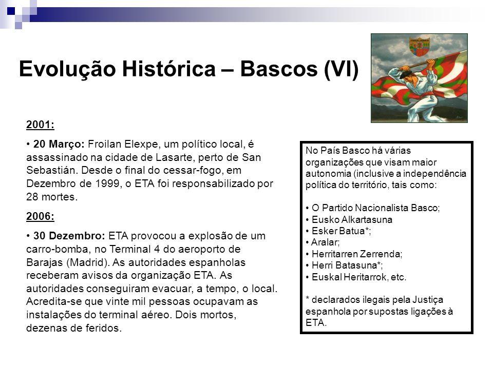 2001: 20 Março: Froilan Elexpe, um político local, é assassinado na cidade de Lasarte, perto de San Sebastián. Desde o final do cessar-fogo, em Dezemb