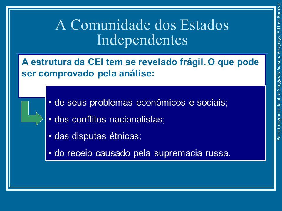 A Comunidade dos Estados Independentes A estrutura da CEI tem se revelado frágil. O que pode ser comprovado pela análise: de seus problemas econômicos