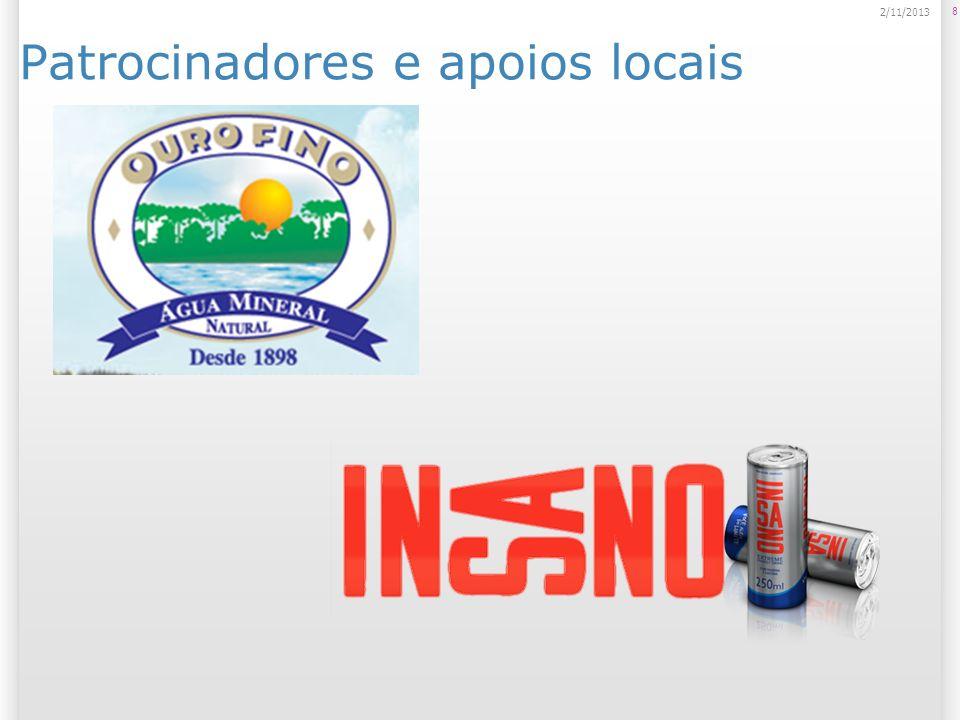 Patrocinadores e apoios locais 8 2/11/2013