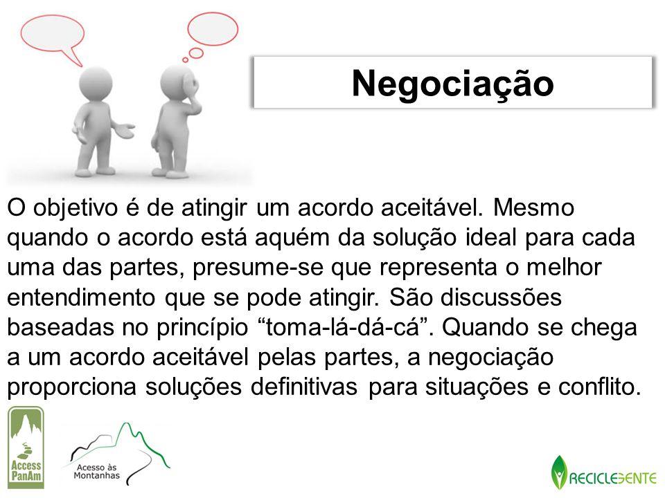 O objetivo é de atingir um acordo aceitável. Mesmo quando o acordo está aquém da solução ideal para cada uma das partes, presume-se que representa o m