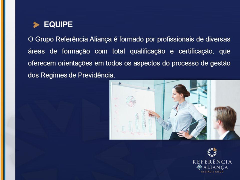 EQUIPE O Grupo Referência Aliança é formado por profissionais de diversas áreas de formação com total qualificação e certificação, que oferecem orient