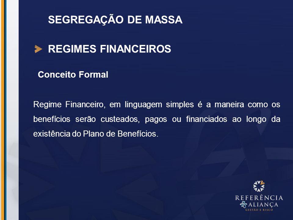 REGIMES FINANCEIROS Conceito Formal Regime Financeiro, em linguagem simples é a maneira como os benefícios serão custeados, pagos ou financiados ao lo