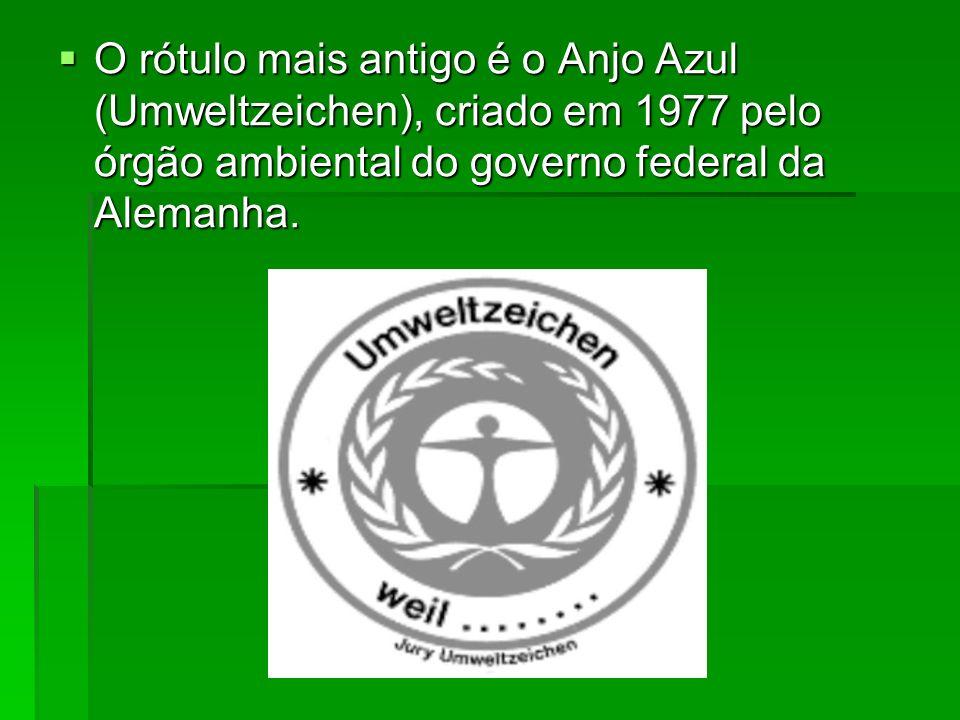 O rótulo mais antigo é o Anjo Azul (Umweltzeichen), criado em 1977 pelo órgão ambiental do governo federal da Alemanha. O rótulo mais antigo é o Anjo