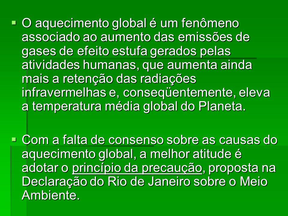 O aquecimento global é um fenômeno associado ao aumento das emissões de gases de efeito estufa gerados pelas atividades humanas, que aumenta ainda mai