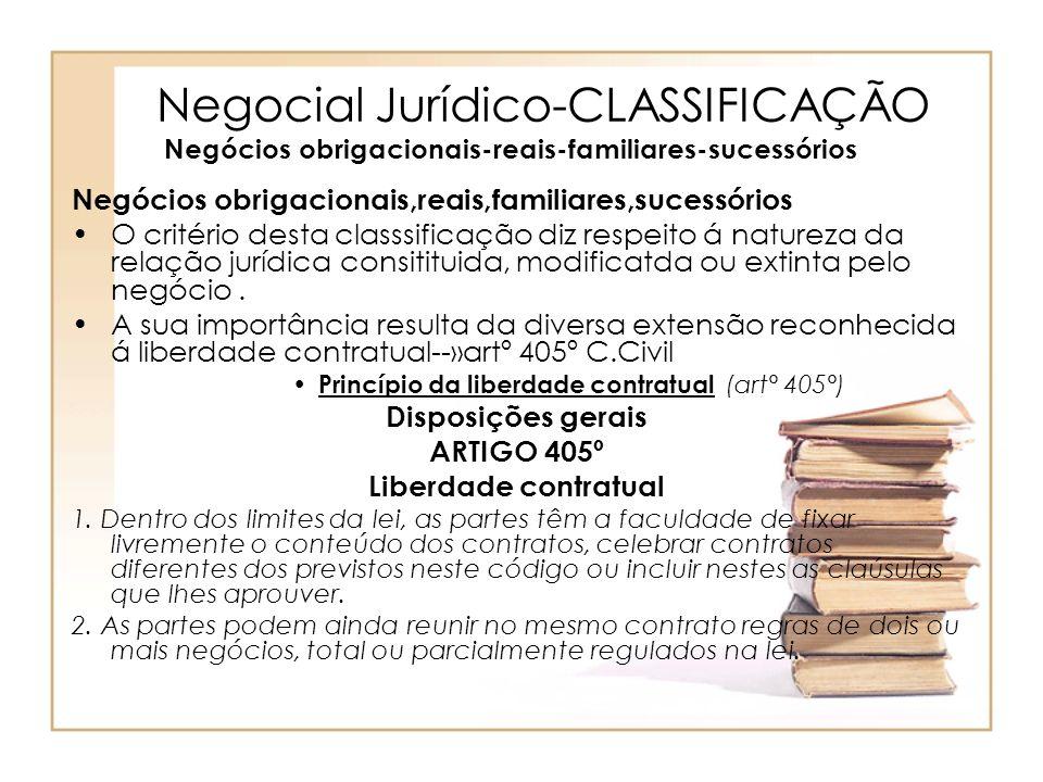 Negocial Jurídico-CLASSIFICAÇÃO Negócios obrigacionais-reais-familiares-sucessórios Negócios obrigacionais,reais,familiares,sucessórios O critério des