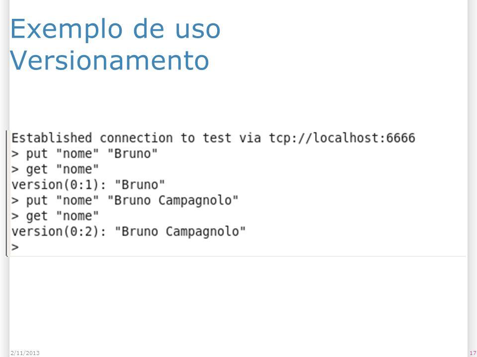 Exemplo de uso Versionamento 172/11/2013