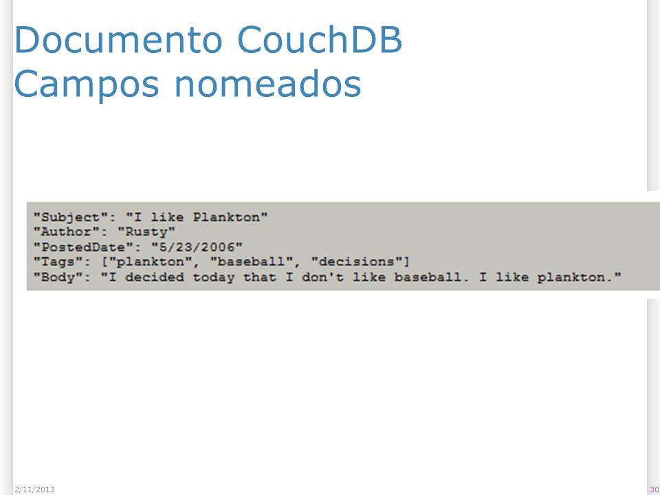 Documento CouchDB Campos nomeados 302/11/2013