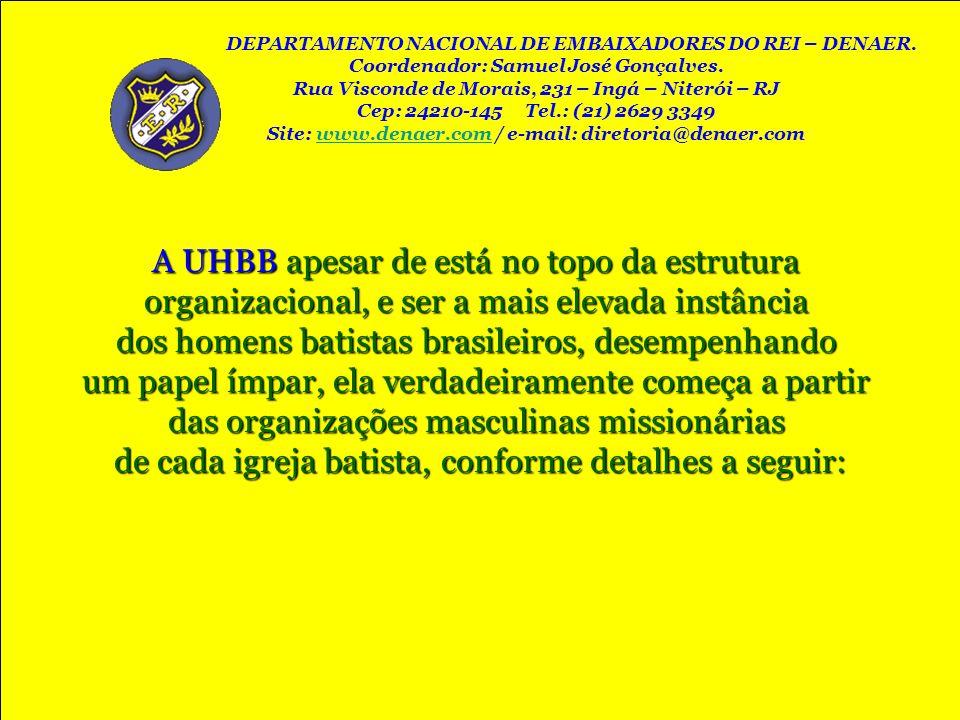 A UHBB apesar de está no topo da estrutura organizacional, e ser a mais elevada instância dos homens batistas brasileiros, desempenhando um papel ímpa