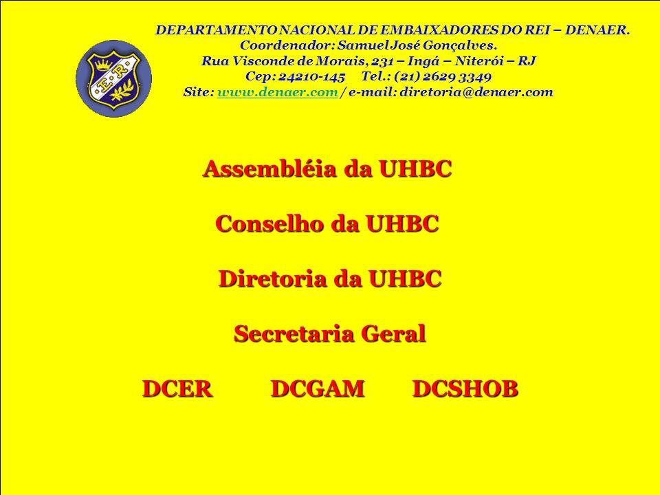Assembléia da UHBC Assembléia da UHBC Conselho da UHBC Conselho da UHBC Diretoria da UHBC Diretoria da UHBC Secretaria Geral Secretaria Geral DCER DCG