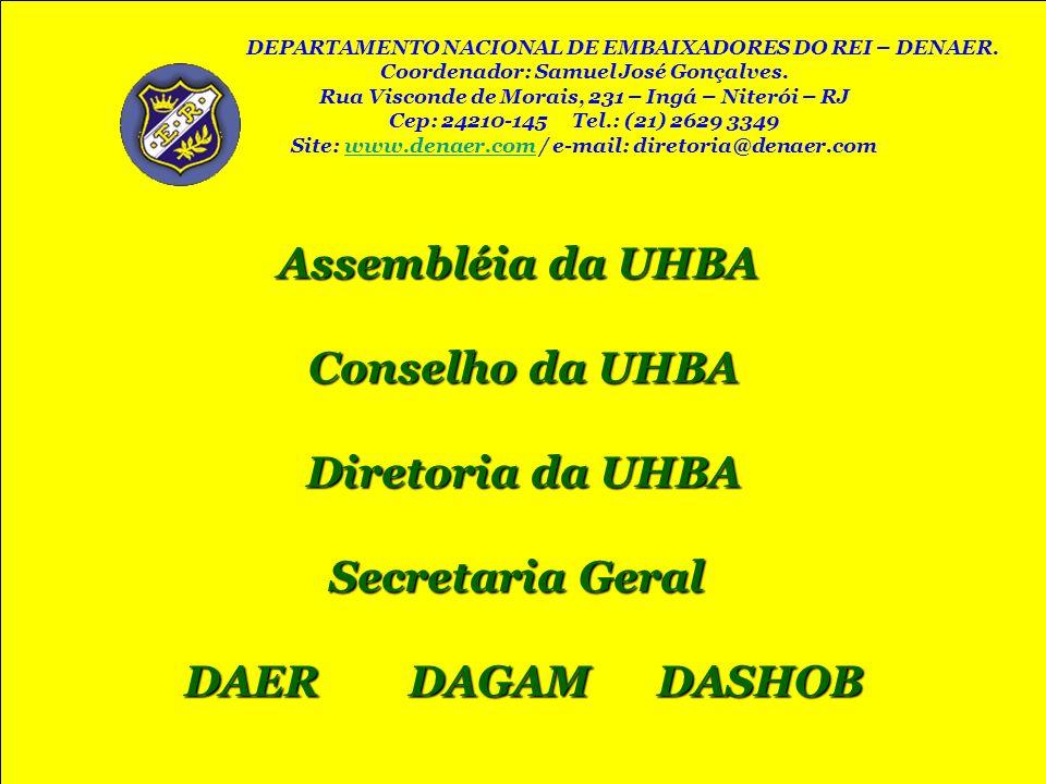 Assembléia da UHBA Assembléia da UHBA Conselho da UHBA Diretoria da UHBA Secretaria Geral Secretaria Geral DAER DAGAM DASHOB DEPARTAMENTO NACIONAL DE