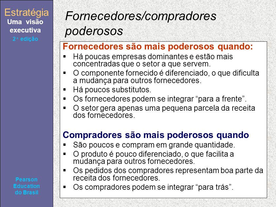 Estratégia Uma visão executiva Pearson Education do Brasil Estratégia Uma visão executiva Pearson Education do Brasil 2ª edição Fornecedores/comprador