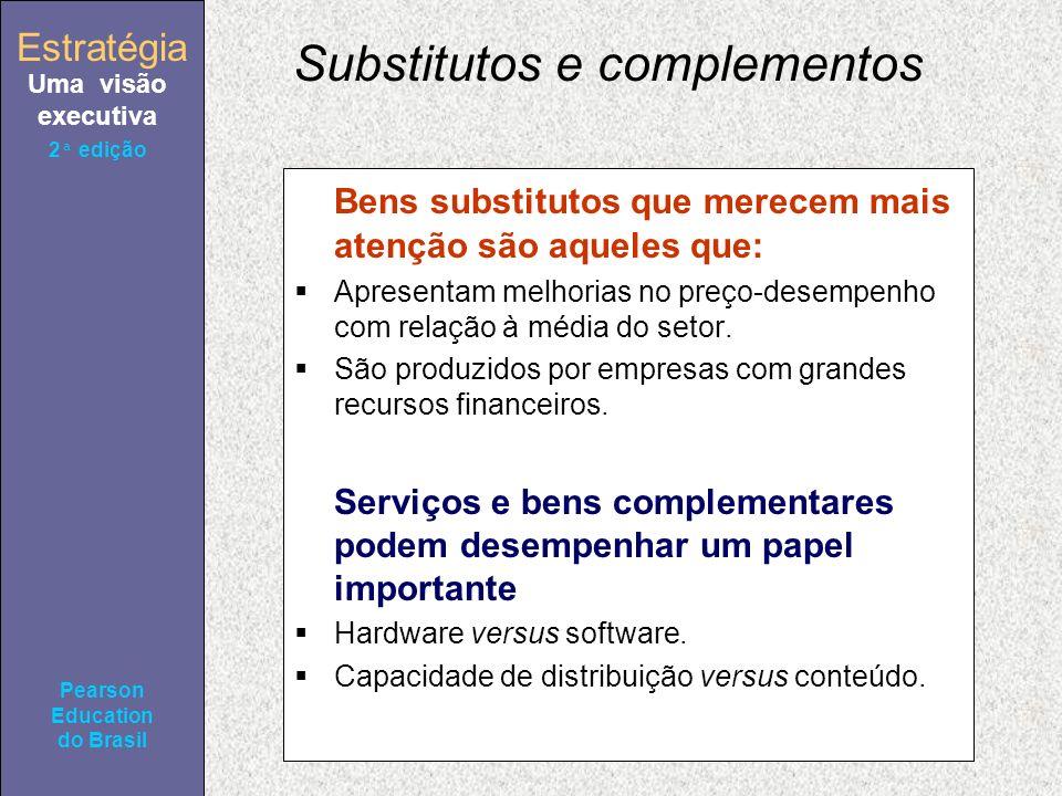 Estratégia Uma visão executiva Pearson Education do Brasil Estratégia Uma visão executiva Pearson Education do Brasil 2ª edição Substitutos e compleme
