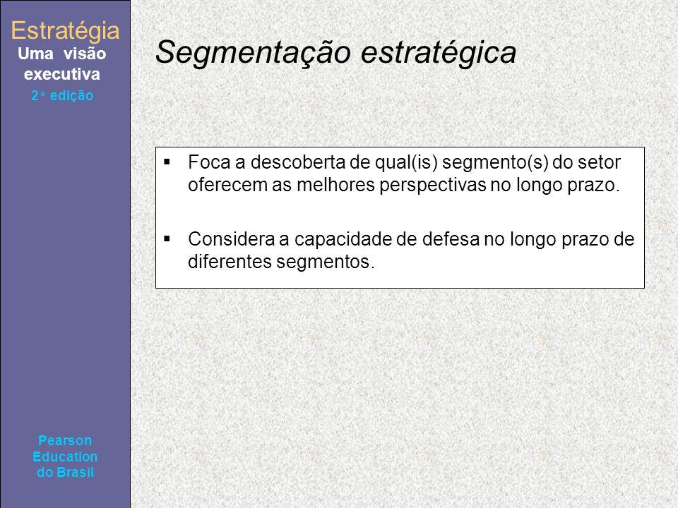 Estratégia Uma visão executiva Pearson Education do Brasil Estratégia Uma visão executiva Pearson Education do Brasil 2ª edição Segmentação estratégic