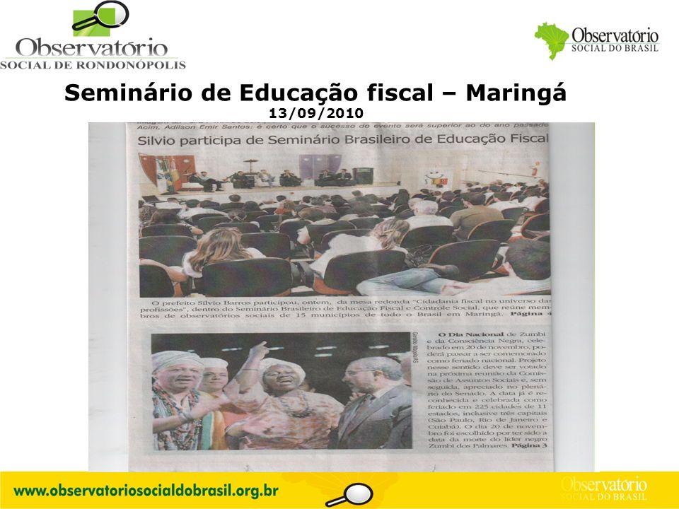 Logo do OS Seminário de Educação fiscal – Maringá 13/09/2010