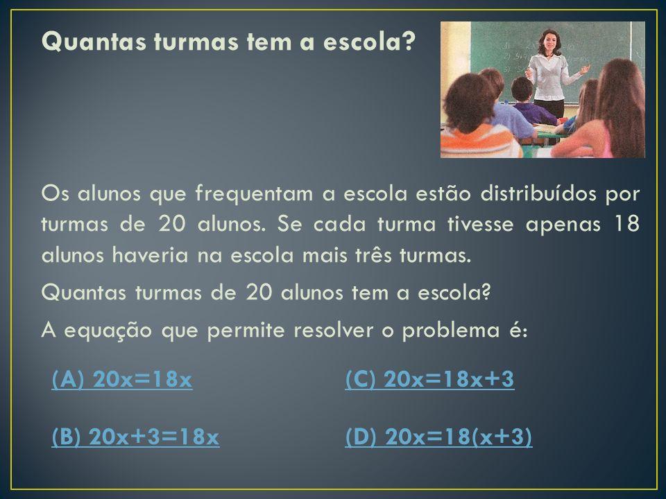 A distância entre a casa do Tiago e a Casa da Sofia é igual a 23 km. A distância do jardim à escola é: (A) 7 (C) 9 (B) 6(D) 14