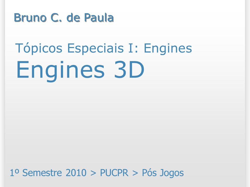 Tópicos Especiais I: Engines Engines 3D 1º Semestre 2010 > PUCPR > Pós Jogos Bruno C. de Paula