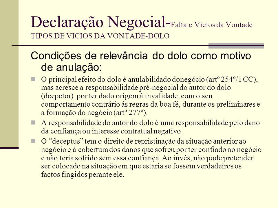 Declaração Negocial- Falta e Vicios da Vontade TIPOS DE VICIOS DA VONTADE-COAÇÃO MORAL Noção A coacção, enquanto causa do medo, diz-se moral/relativa/compulsiva/psicológica.