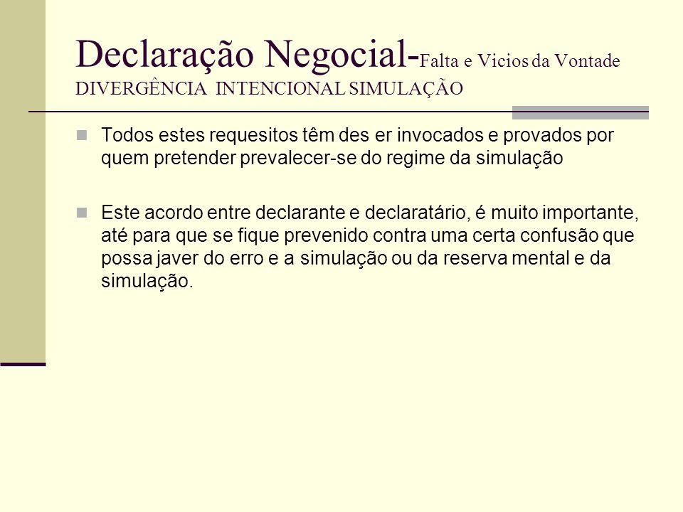 Declaração Negocial- Falta e Vicios da Vontade DIVERGÊNCIA INTENCIONAL SIMULAÇÃO Exemplos de simulação: Caso 1 Factos: O A tem 1 casa arrendada ao C.