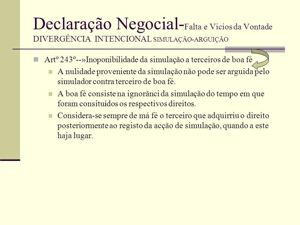 Declaração Negocial- Falta e Vicios da Vontade DIVERGÊNCIA INTENCIONAL SIMULAÇÃO-ARGUIÇÃO A prova do pacto simulatório não pode ser realizada por testemunhas quando o negócio simulado seja celebrado por documento autêntico, ou por algum dos documentos particulares mencionados nos artº 373.ºe 379.º e aquele pacto seja invocado pelos simuladores--»artº 394 nº2 Nada impede que seja realizada prova testemunhal a partir de documento com a forma legal do negócio simulado Ac STJ de 17.6.2003 Arguida simulação pelos simuladores entende-se admissivel prova testemunhal se of factos a provar surgem, com alguma verosimilhança, em provas escrita.
