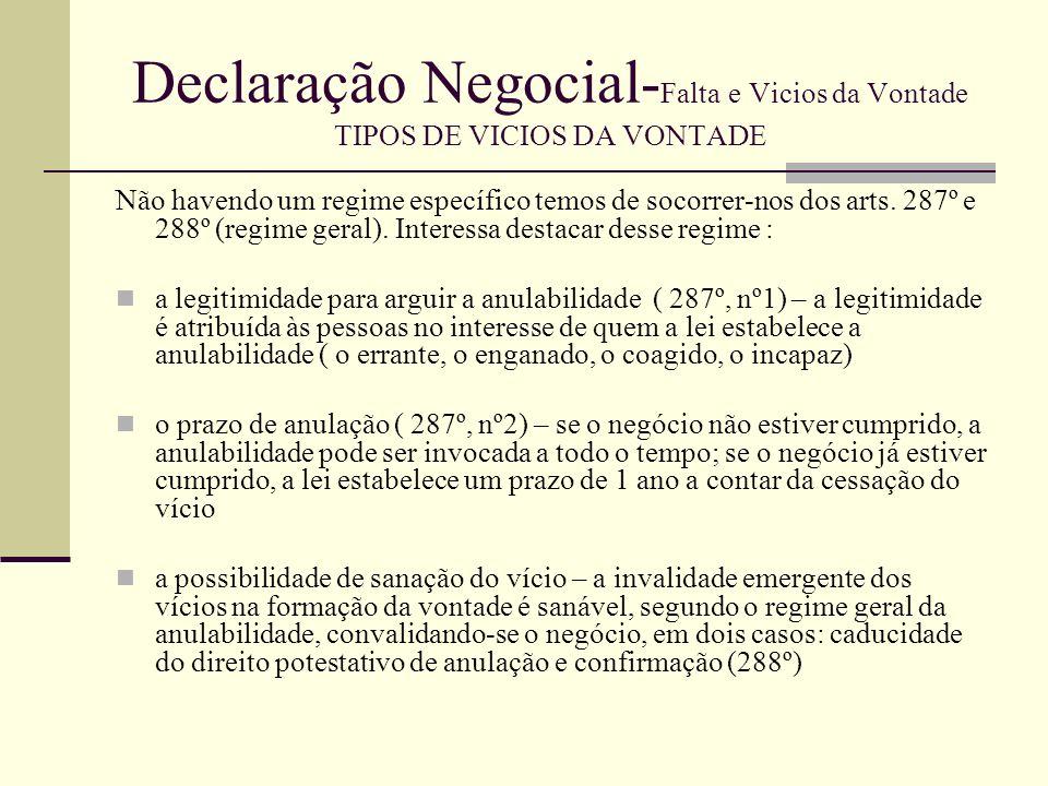Declaração Negocial- Falta e Vicios da Vontade TIPOS DE VICIOS DA VONTADE-ERRO Noção Mas o que é o erro vicio.