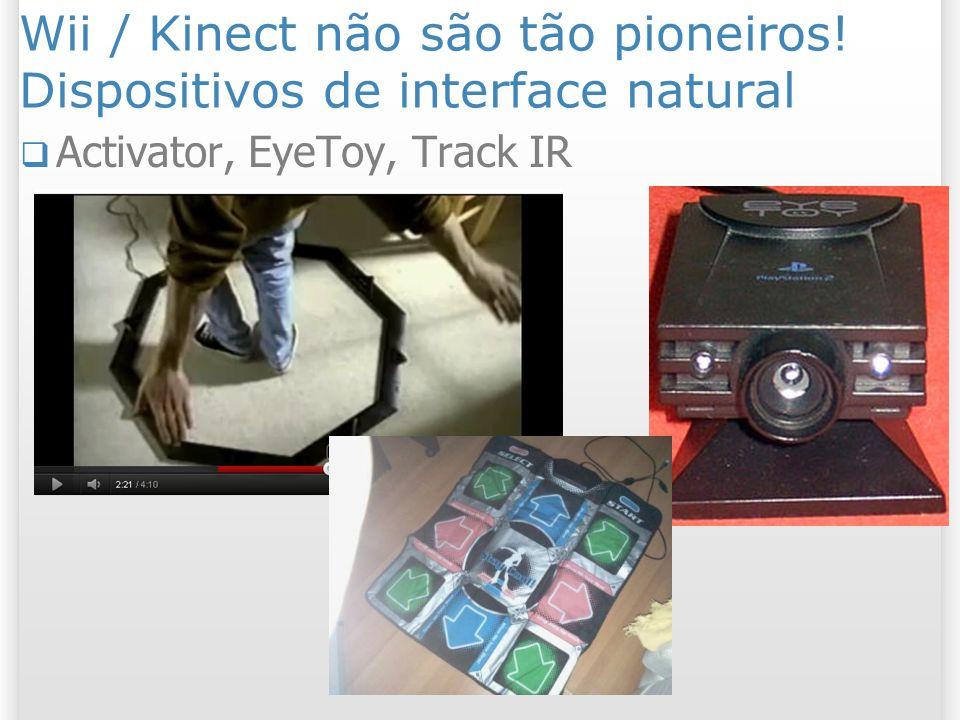 Wii / Kinect não são tão pioneiros! Dispositivos de interface natural Activator, EyeToy, Track IR